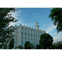 St. George Utah LDS Temple Photographic Print