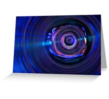 C3PO in blue Greeting Card