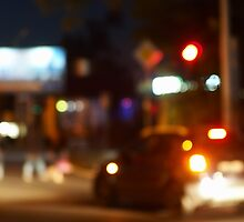Blur and defocused lights from the headlights by vladromensky