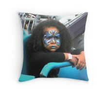 """Not Happy on Carnival Ride"" Throw Pillow"