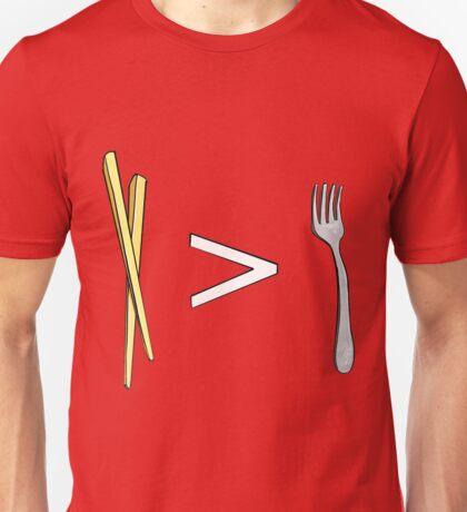 Chopsticks > Forks Unisex T-Shirt