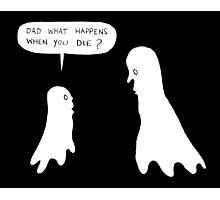 ghost talk Photographic Print