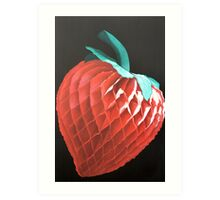 Paper Strawberry Art Print