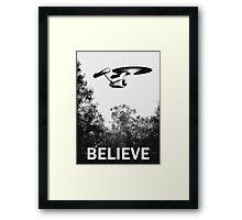 Believe - Trek Framed Print