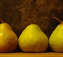 three juicy pears by Clare Colins