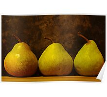 three juicy pears Poster