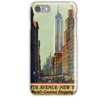 New York Vintage Travel Poster iPhone Case/Skin