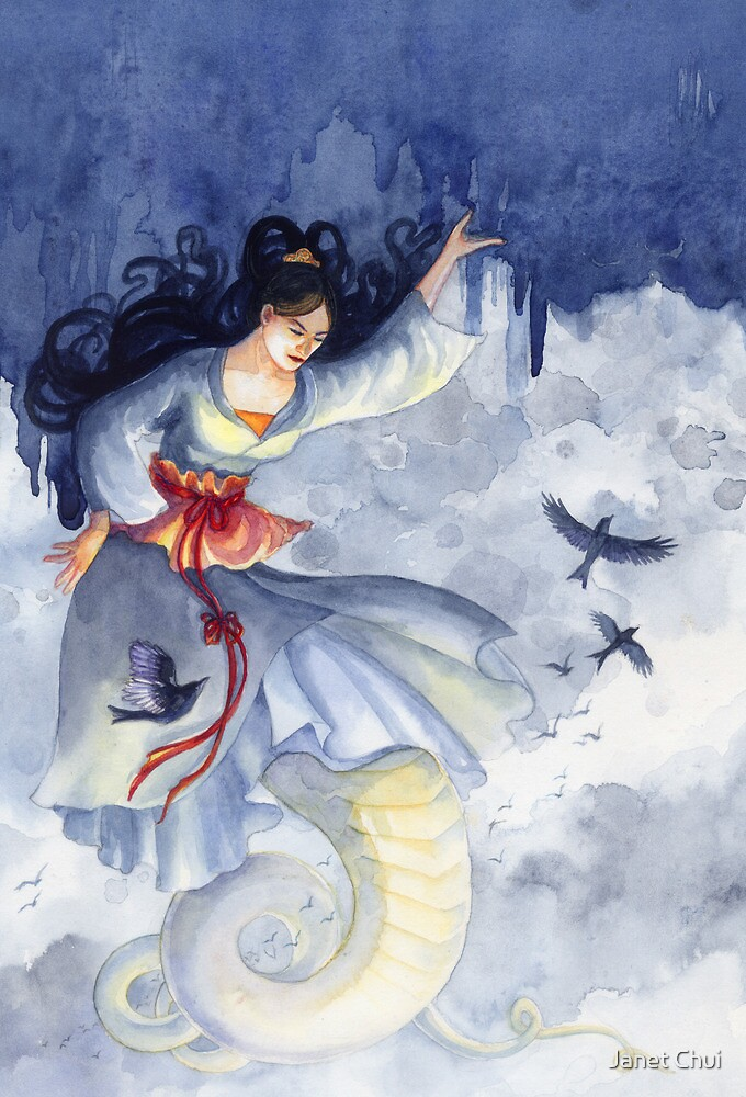 Nüwa Holding Up the Sky by Janet Chui