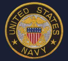 Navy emblem tshirt sm by Walter Colvin