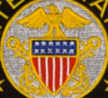 Navy emblem tshirt sm Sticker