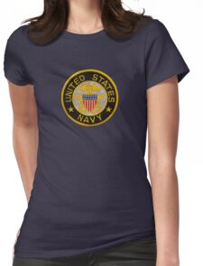Navy Emblem T-Shirt Womens Fitted T-Shirt