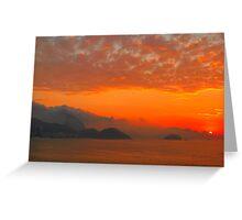 Rio de Janeiro by sunrise Greeting Card