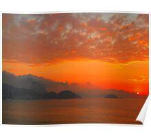 Rio de Janeiro by sunrise Poster