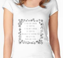 Set me free Women's Fitted Scoop T-Shirt