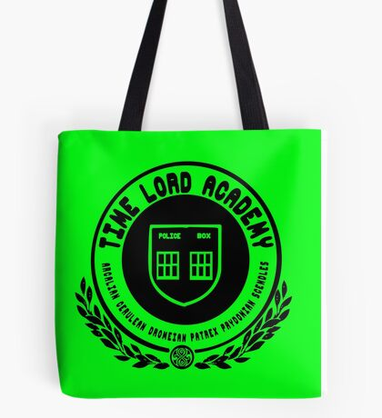 Time Lord Academy Tote Bag