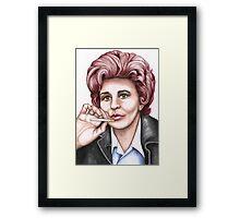 Strong women characters of Coronation Street : Elsie Tanner Framed Print