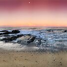 orange sunset-Red head-NSW Mid North Coast by Rodney Trenchard