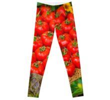 Design Concept Red Tomato Basket Leggings