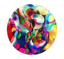 Psychedelic Circle Photographic Print