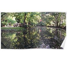 'Alfred Nicholas Gardens' - Water Reflection Poster