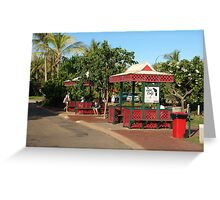 Even Broome's bus stops are colourful Greeting Card