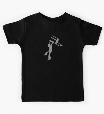 BAR FIGHT chair throwing man Kids Tee