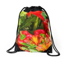 Design Concept Red Peppers Drawstring Bag