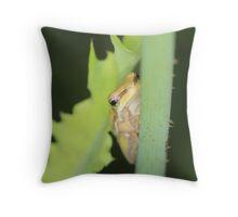Tiny Frogs Throw Pillow