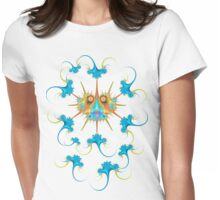 Caulimo Bug with Anti-Virus Womens Fitted T-Shirt