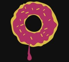 Pink iced doughnut One Piece - Short Sleeve