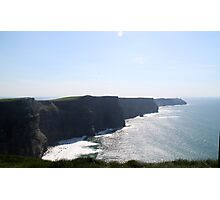 Surf at the Cliffs of Moher Photographic Print