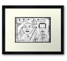 Men Behaving Badly  Framed Print