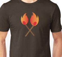 Two burning matches Unisex T-Shirt