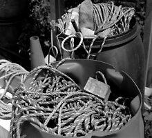Equipment Barrels - Brancaster Staithe, Norfolk, UK by Richard Flint