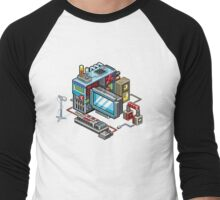Retro computer Men's Baseball ¾ T-Shirt