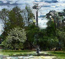 About spring in  rural place in Lithuania by Antanas