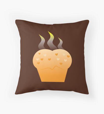 Baking steamy Hot Buns Throw Pillow