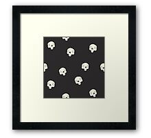 Cute Sugar Skull Black Framed Print