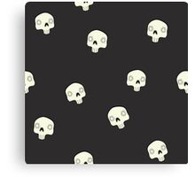 Cute Sugar Skull Black Canvas Print