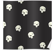 Cute Sugar Skull Black Poster