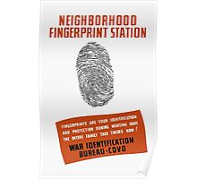 WPA -- Neighborhood Fingerprint Station Poster