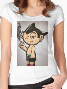 Astro Boy by WRTISTIK Women's Fitted Scoop T-Shirt