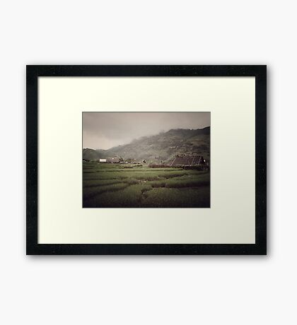 Living the traditional live - Sa Pa, Vietnam Framed Print