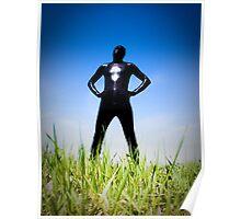 Black Snakeskin Zentai in the Field 1-4 Poster