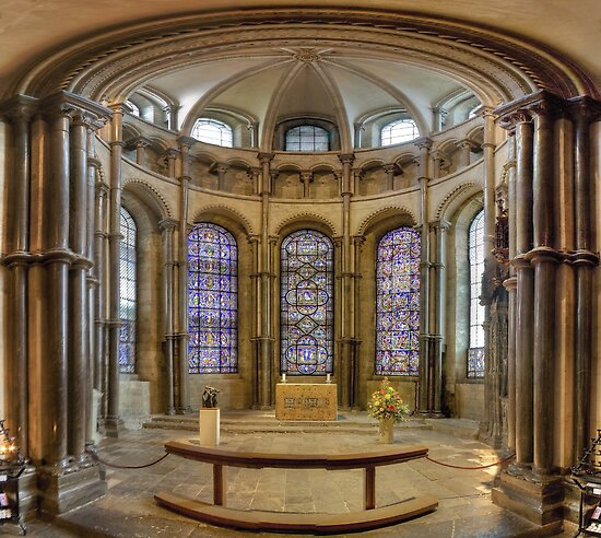 Chapel of Saints and Martyrs of Our Own Time, Canterbury Cathedral, England by Bob Culshaw