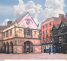 Market Square, Shrewsbury by Peter Sandilands