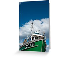 Fishing vessel, CY45 Heather Belle, Pot & Trap fishing, dock side Mallaig Greeting Card