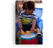 Carlos on the Drum Canvas Print
