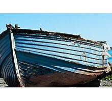 Boat, Wooden dinghy, ashore, rotting  Photographic Print