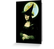 Mona Lisa...Witchy Woman Greeting Card